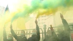 Під стінами КСУ активісти виступили проти розгляду судом закону «про мову» – відео