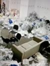 Camera din primăria sectorului 1 unde sunt depozitați sacii cu voturi.