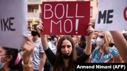 Protesta në Ferizaj më 24 gusht, pas vrasjes së një 18-vjeçarjeje.