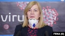 Komandantica Federalnog štaba civilne zaštite i ministrica finansija Federacije BiH Jelka Milićević, 25 mart 2020.