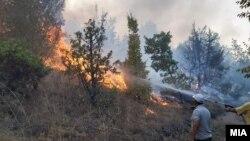 Пожар во села во Кавадарци.