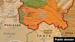 Mapa Kašmira. Izvor: CIA