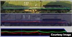 Порівняння ушкоджень щитка у «Бука 332» і «Бука 3х2». Фото зі звіту Bellingcat