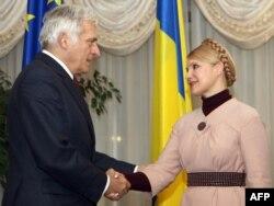 Єжи Бузек і Юлія Тимошенко, архівна фотографія