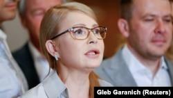 """""""Батькивщина"""" партиясының жетекшісі Юлия Тимошенко. Киев, 21 шілде 2019 жыл."""