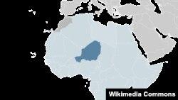 Африка картасында қою түске боялған - Нигерия жері. (Көрнекі сурет)
