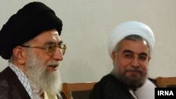 Iranian Supreme Leader Ayatollah Ali Khamenei and President Hassan Rohani (file photo)