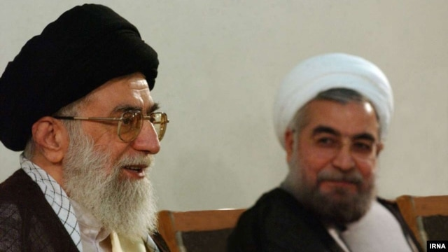 If Rohani (right) is to successfully implement many of his campaign promises, he will need to have Iranian Supreme Leader Ayatollah Ali Khamenei (left) on his side.