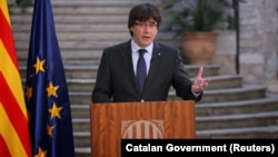 Разрешениот каталонски лидер Карлес Пуџдемон