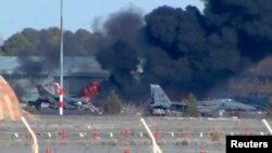 Відеокадр із місця катастрофи, 26 січня 2015 року