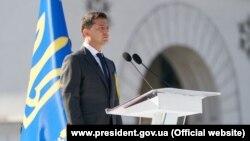 Президент Владимир Зеленский на официальной части празднования Дня независимости в Киеве