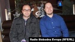 Дејан Ристов секретар на општинскиот комитет на ВМРО-ДПМНЕ во Куманово и Сашо Тодоровски портпарол на Огранокот на СДСМ во Куманово.