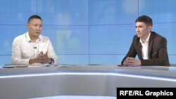 Major Aibek Kamčibekov i stariji poručnik Marlis Osmonbekov u intervjuu za Radio Azatik, kirigistanski servis RSE-a