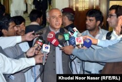 Abdul Malik Baloch speaking to journalists. (file photo)