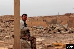 Развалины древнего города Нимруд, несколько дней назад освобожденного от джихадистов