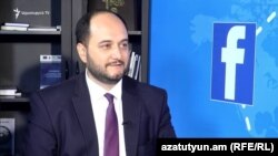 Министр образования и науки Армении Араик Арутюнян, май 2018 г.