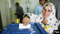 A ballot is cast in Iran's last presidential election, in 2009.