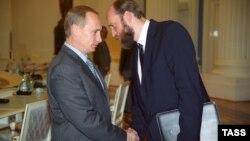 Владимир Путин и Сергей Пугачев, 2000 г.