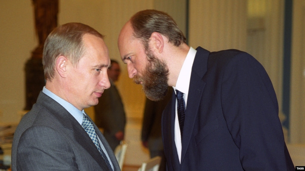 Владимир Путин и Сергей Пугачев. 2000 г.