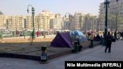 ميدان التحرير في القاهرة على ابواب ذكرى ثورة 25يناير