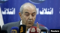 File Photo: Iraqi Vice President Iyad Allawi