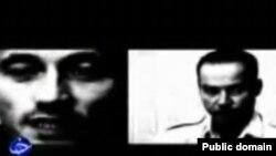 Фото с экрана телевизора репортера и фотографа во время показа их фотографий по иранскому телеканалу, 16 ноября 2010