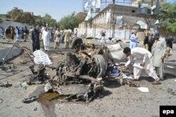 Представники сил безпеки Пакистану на місці вибуху у Кветті, 23 червня 2017 року
