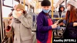В салоне автобуса. Казань, 26 марта 2020 года