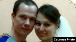 Jailed Russian activist Ildar Dadin and his wife Anastasia Zotova
