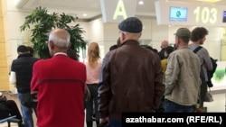 Зал ожидания в международном аэропорту Ашхабада (иллюстративное фото)