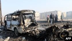 Pamje pas bombardimeve të para tri ditëve në qytetin Alepo në Siri