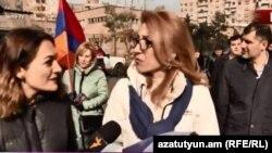 Бывший министр труда и социальных вопросов Мане Тандилян, Ереван, 26 ноября 2018 г.