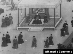 Tsu-cu imperator qarşısında oynanır
