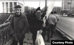 Віцебск, першыя «Дзяды» ў 1989 г. Міхась Паўлаў — зьлева