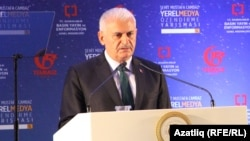 The move comes one day before Turkish Prime Minister Binali Yildirim (pictured) will head to Washington to meet U.S. Vice President Mike Pence.