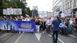 grab March In Protest Of First-Ever Pride Parade Held In Sarajevo