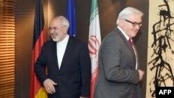 فرانک اشتاين ماير، وزير خارجه آلمان، و محمد جواد ظریف، وزیر امور خارجه ایران