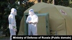 Многопрофильный госпиталь Минобороны России, развернутый в Сухуме