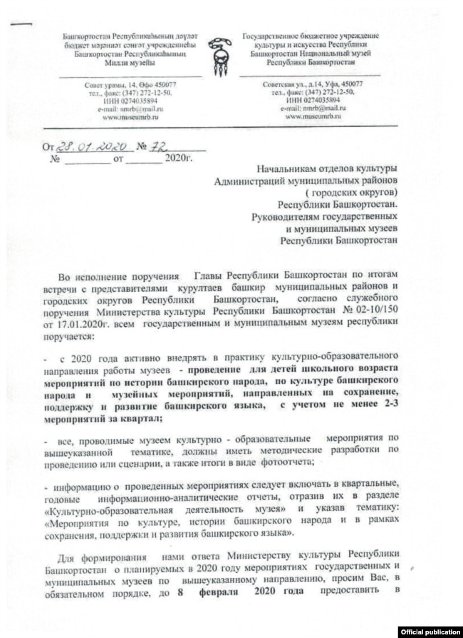 Как музеи участвуют в башкиризации татар