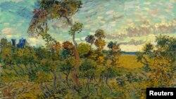 "Piktura ""Sunset at Montmajour"""