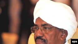 Sudanese President Omar Hassan al-Bashir at the opening of the Arab League summit