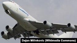 Boeing 747-200F ұшағы. (Көрнекі сурет.)