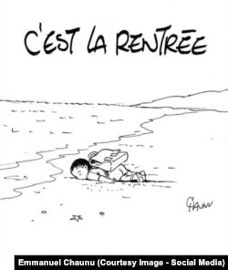 Рисунок Эммануэля Шоню. Он НЕ публиковался в Charlie Hebdo