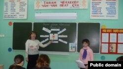 Урок чувашского языка. Фото: gov.cap.ru