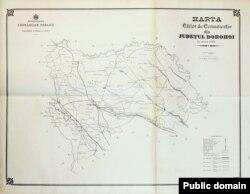 Județul Dorohoi: căile de comunicație la 1897