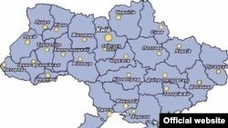 Карта України.