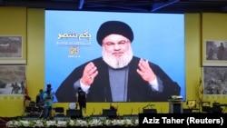 تصویر تلویزیونی حسن نصرالله، دبیرکل حزبالله لبنان