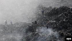Грибовицьке сміттєзвалище після пожежі й обвалу, травень 2016 року