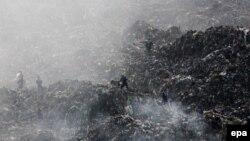 Грибовицьке сміттєзвалище, на якому сталася пожежа й обвал, травень 2016 року