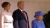 ԱՄՆ նախագահը՝ տիկնոջ հետ, Մեծ Բրիտանիա այցի շրջանակում հանդիպում է Եղիսաբեթ երկրորդ թագուհու հետ, 13-ը հուլիսի, 2018թ․
